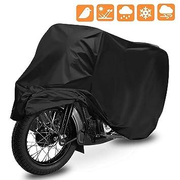 9b4b595ca56 Funda para Moto, opamoo Cubierta de Motocicleta Impermeable Funda Protector  190T Cubierta de la Moto a Prueba de UV Lluvia Polvo ...
