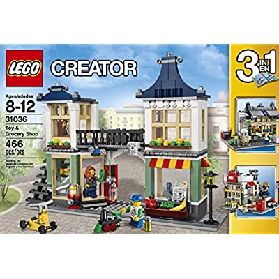 LEGO Creator 31036 Toy and Grocery Shop, 3-in-1 Building Toy Set (Toy Store, Grocery Shop, or Newspaper Stand / Post Office), 466 Pieces: Toys & Games