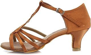 HROYL Chaussures de Danse pour Femmes/Chaussures de Danse Latine Satin Ballroom Modèle 230 ES7-F30