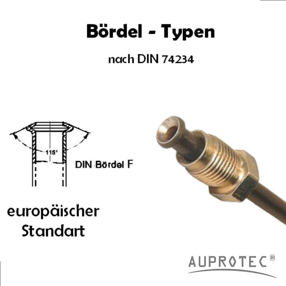 3050mm choix Longueur 260 mm Tuyau de Frein /Ø 4,75 mm en Cupro Nickel Cunife /évasure double type E conduite de freins DIN 74 234 tuyaux des canalisations de freins 150mm