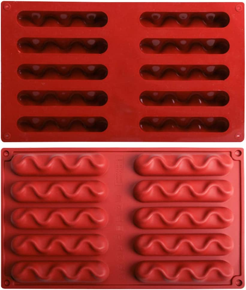Haptian Stampo in Silicone 10 cavit/à attorcigliato Stampo in Silicone Fondente Torta Mousse