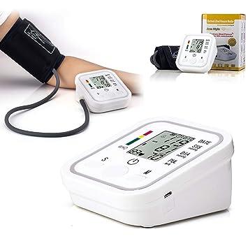 PeiXuan2019 Cuidado de la Salud en el hogar LCD Digital Brazo Superior Monitor de presión Arterial Medidor de latidos cardíacos Máquina tonómetro para ...