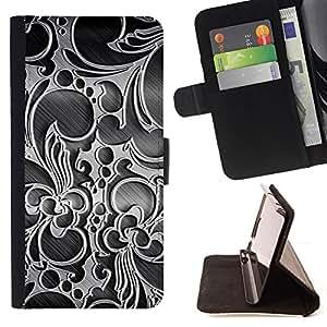 DEVIL CASE - FOR Samsung ALPHA G850 - Wallpaper Decoration Design Art Interior - Style PU Leather Case Wallet Flip Stand Flap Closure Cover