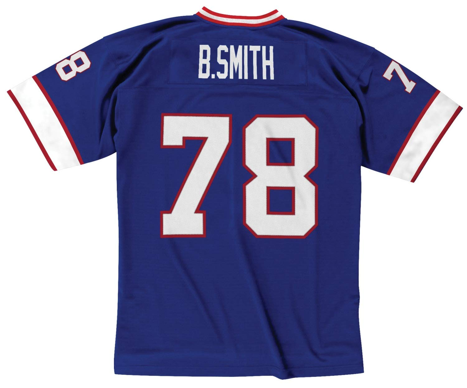18547899d Amazon.com   Mitchell   Ness Bruce Smith Buffalo Bills Throwback Jersey Blue    Sports   Outdoors