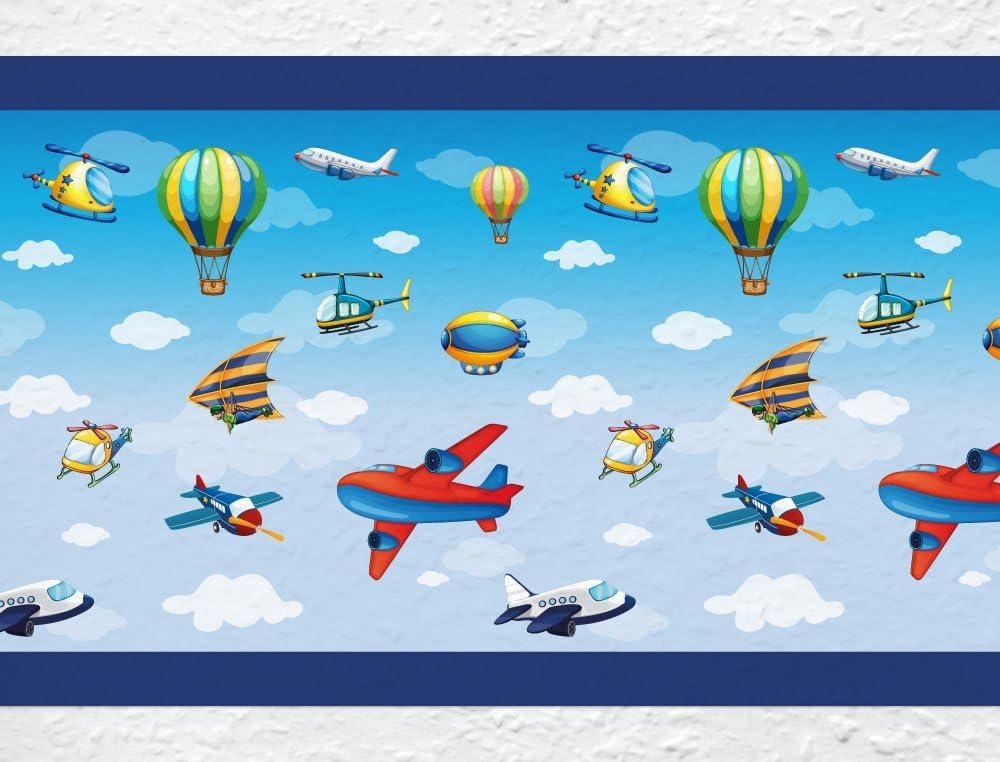 dekodino Kinderzimmer Bord/üre Borte Flugzeuge Hubschrauber selbstklebend
