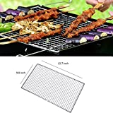 1 Pack Stainless Steel Grill Net,BBQ Grill Stainless Steel Net Wire Mesh Camping Barbecue Outdoor Picnic Cooking (40x25cm/15.7x9.8inch)
