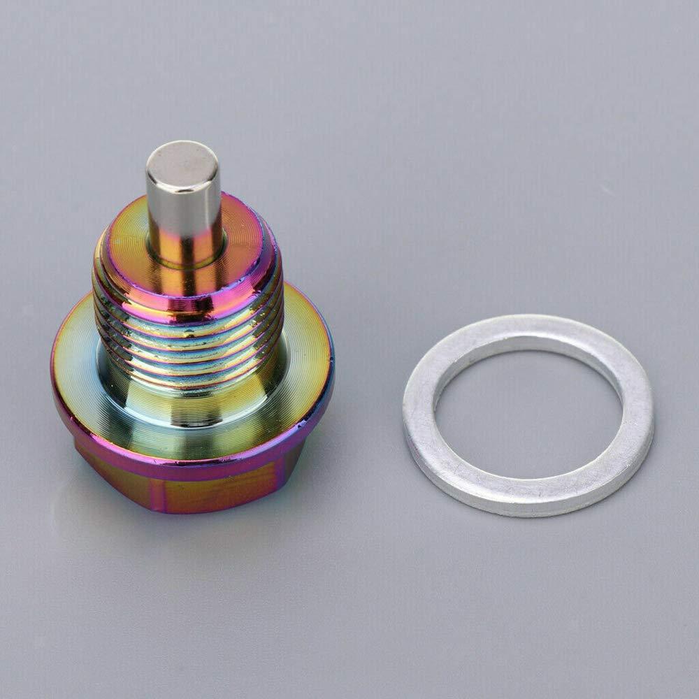 confezione da 1 SUNWAN Tappo magnetico di scarico olio e rondella M16 x 1,5 con anello di tenuta