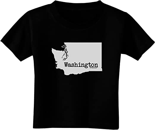 TooLoud Washington United States Shape Toddler T-Shirt