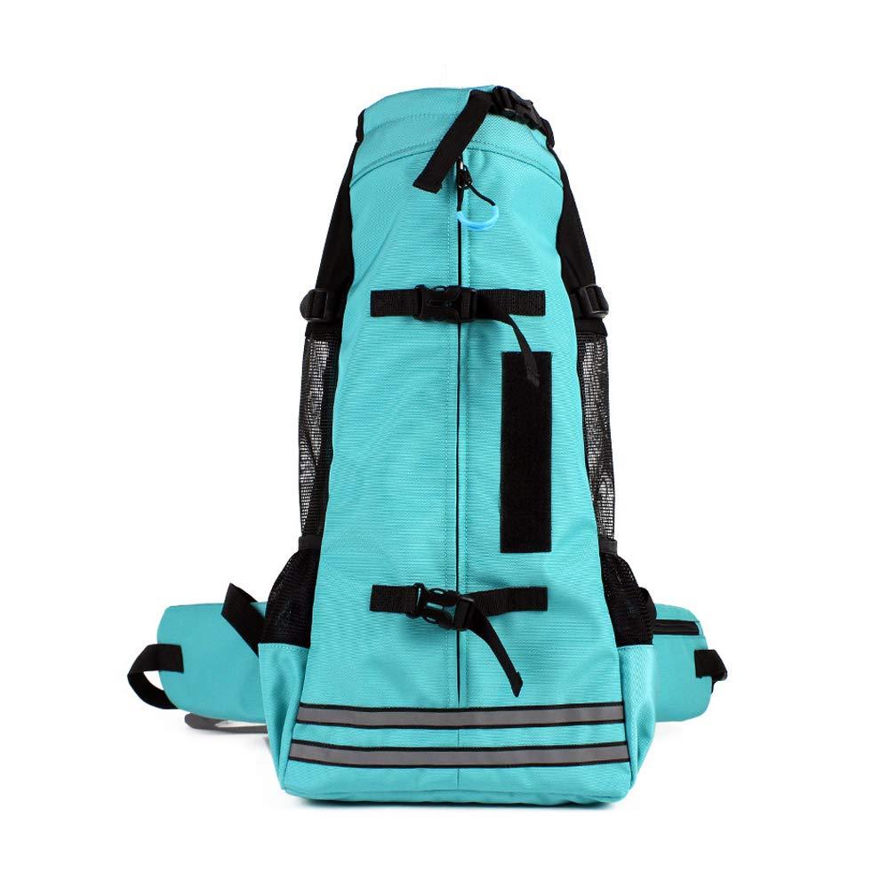L XBECO Dog Carrier Backpacks Out-of-port Portable Pet Cat Backpack Cat Dog Backpack Out Shoulders(color   green, M-L)