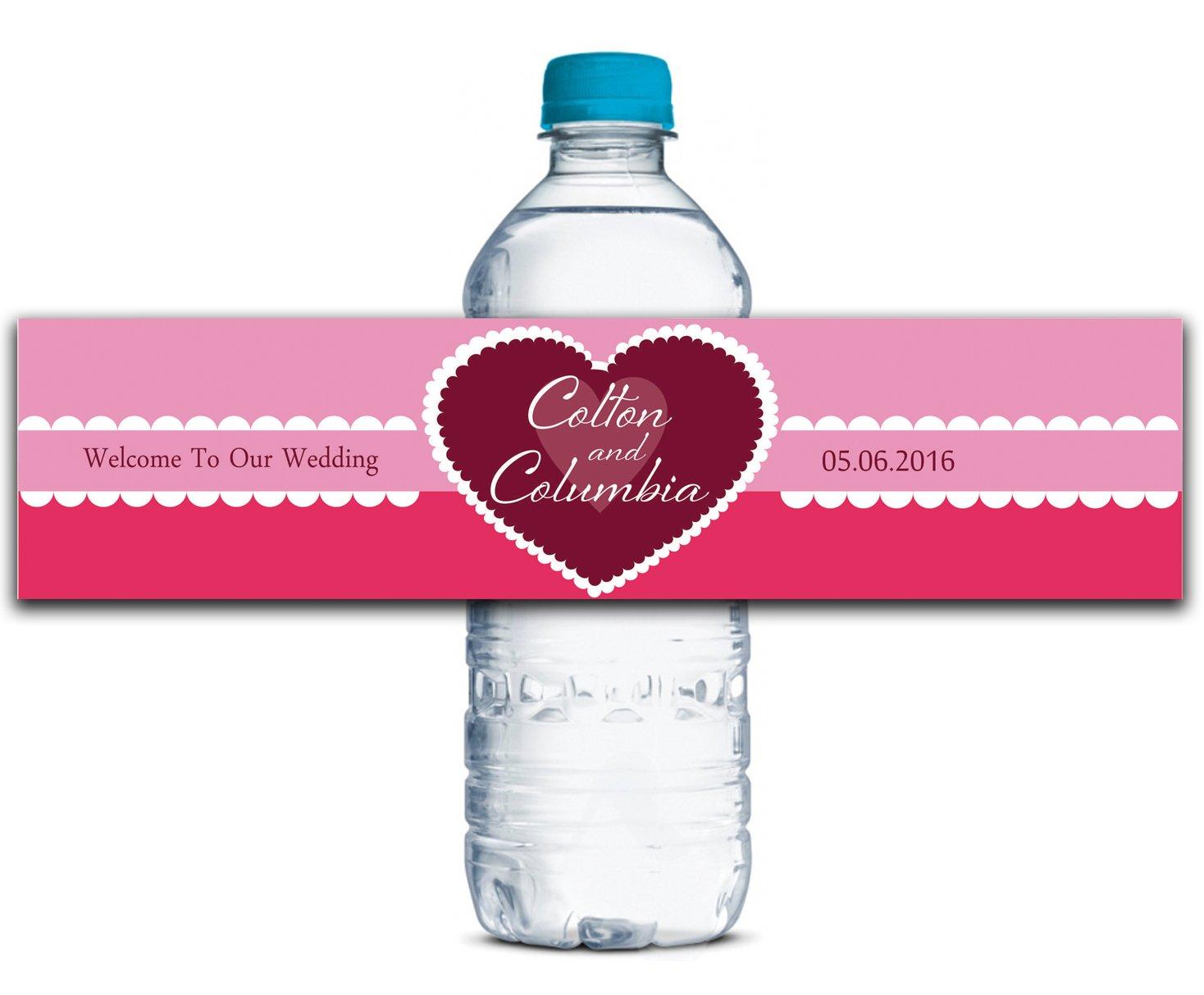 Personalisierte Wasserflasche Etiketten Selbstklebende wasserdichte Kundenspezifische Kundenspezifische Kundenspezifische Hochzeits-Aufkleber 8  x 2  Zoll - 70 Etiketten B01A0W8ZVI | Um Zuerst Unter ähnlichen Produkten Rang  a4079b