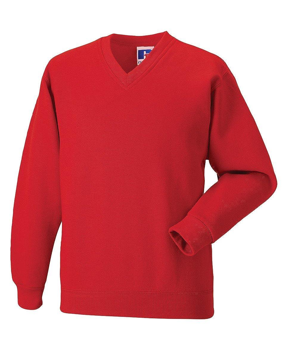 Boys Unisex School Jumper V Neck Sweatshirt Uniform Age 3 4 5 6 7 8 9 10 11 12 13 + Adult Size Small - 3XL