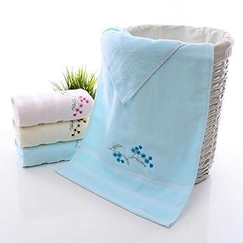 Alto grado algodón bordado cara toalla puesto toalla del hotel: Amazon.es: Hogar