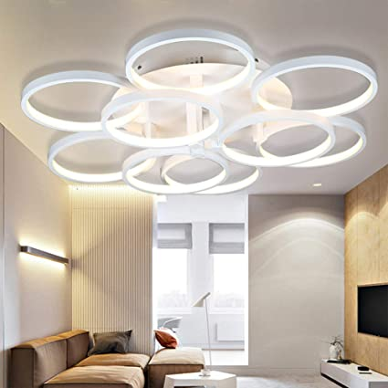 Lámpara de Techo Moderna Minimalista 6 + 3 Cabezas acrílico ...