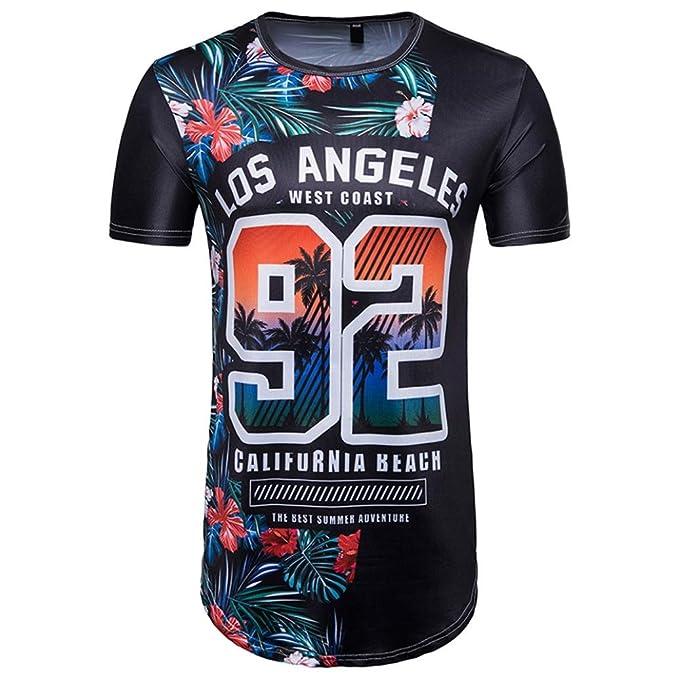 Camisetas Con 3D Estampado Hombre Futbol LHWY, Remera Talla Grande Camisetas Suelto Cuello Redondo Manga