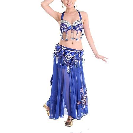 Qichengdian Falda de Danza del Vientre para Mujer Trajes De Danza ...