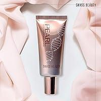Swiss Beauty Liquid Pearl Illuminator Makeup Base, Silver Pink, 35g