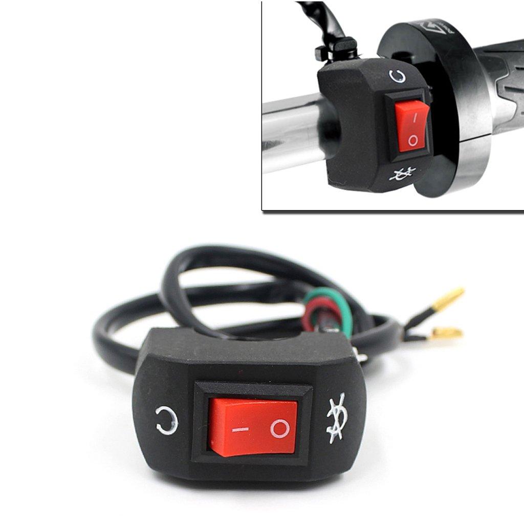 MonkeyJack ATV Motorcycle Handlebar Headlight Fog Spotlight On Off Switch Waterproof