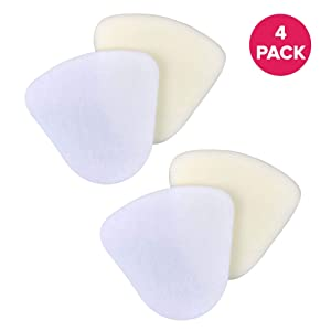 Crucial Vacuum Foam & Felt Filter Replacement Part # XFF350 XFF350NZ - Compatible with Shark - Fits Models NV350, NV350A, NV350E, NV350Q, NV350T, NV350W, NV350WC, NV350WM - Reduce Debris (4 Pack)
