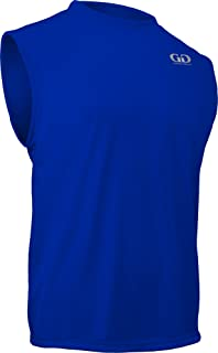 product image for PT-803-CB Men's Loose Fit Sleeveless Athletic Shirt-Made with Moisture Management and Anti-Microbial Performance Fabric (Large, Royal)