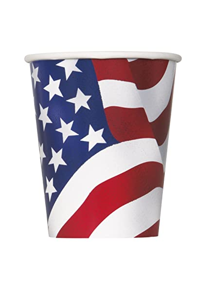678122dd5d7 Image Unavailable. Image not available for. Color  9oz US American Flag  Party Cups
