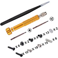 eXtremeRate® Cross Opening Screwdrivers Kit, Assemble Disassemble Tools Set with Springs and Tweezers Screws for…