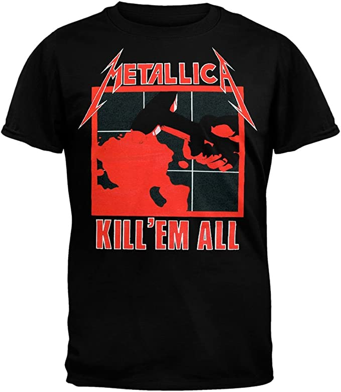 Old Glory Metallica Kill em All - Camiseta de manga corta, color negro: Amazon.es: Ropa y accesorios