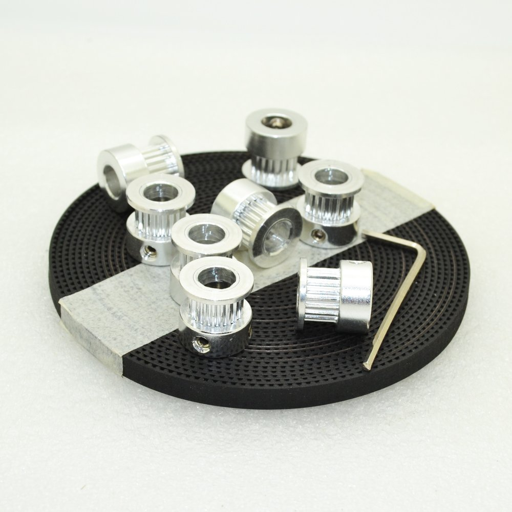 2 Aluminum Timing Pulleys  Reprap Prusa Mendel 3D Printer Bore 6.35mm 2GT GT2