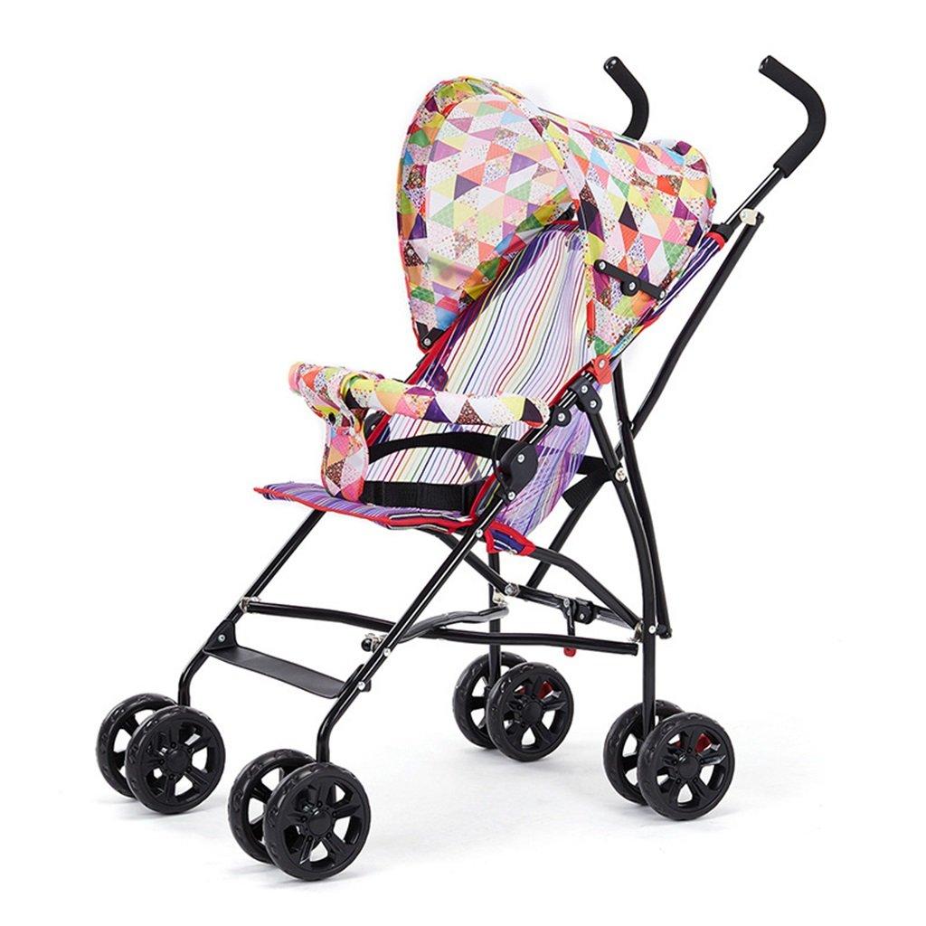 Silla de paseo Cochecito de bebé Cochecito Plegable Simple Ultra Ligero Paraguas Plegable Verano Cochecito de Bebé Portátil (Color : A)