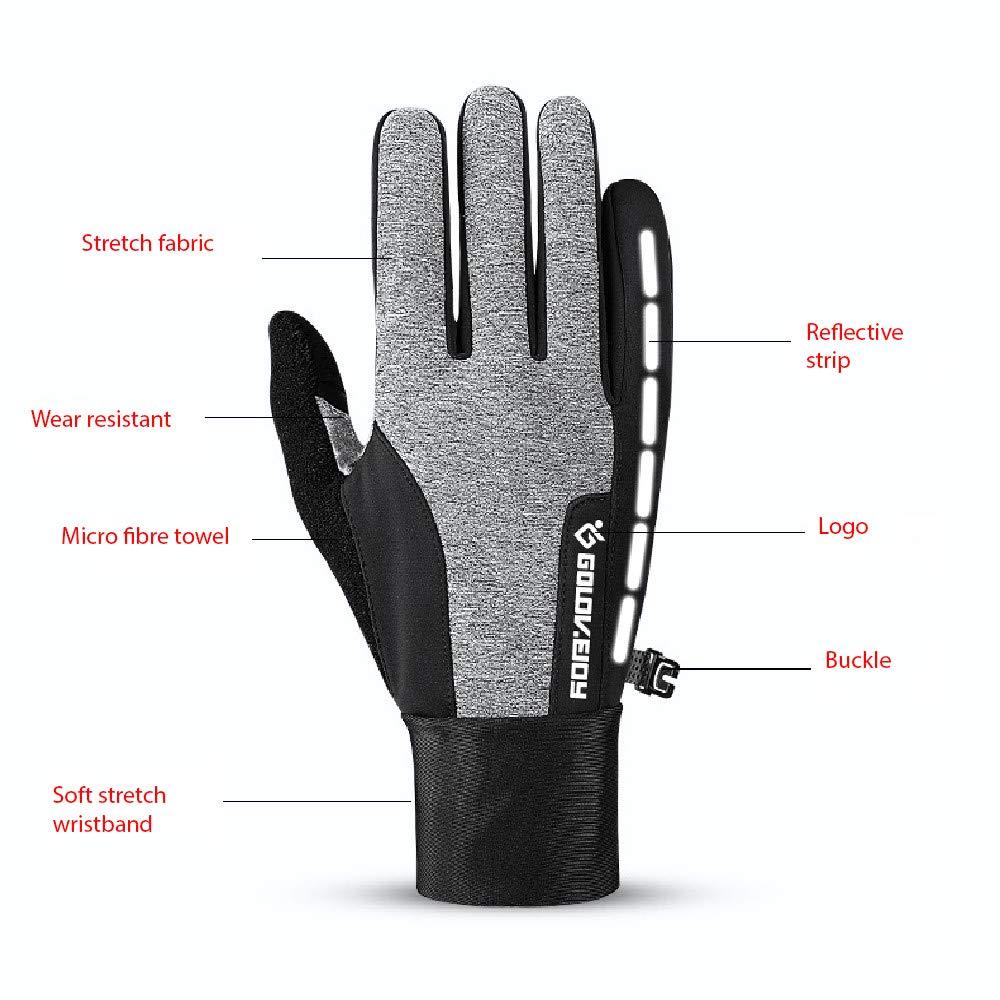 OTTER Unisex wasserdichte Sport Handschuhe f/ür Radfahren Wandern Touchscreen Anti-Rutsch Laufen