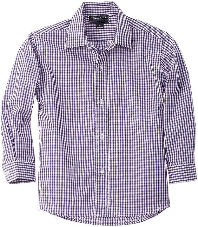 OSCAR DE LA RENTA Camisa tejida a cuadros, 10Y, color morado: Amazon.es: Ropa y accesorios