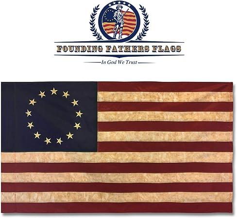 Amazon.com: Bandera de los padres fundadores Betsy Ross ...