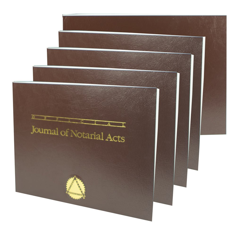 Official Journal of Notarial Acts (Softcover brown 5-pack)
