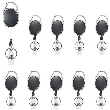 OFNMY Carrete de insignia, paquete de 10 clips de carrete ...