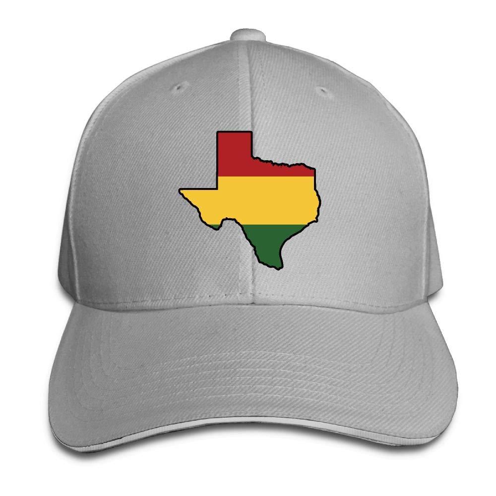 Texas Vintage Style Flag Map Snapback Caps Men//Women Pattern Sports Caps