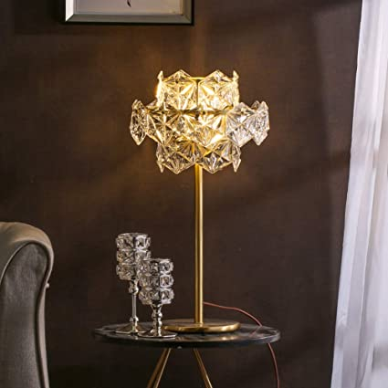 Amazon.com: PPWAN Table Lamp American Post Modern Crystal ...