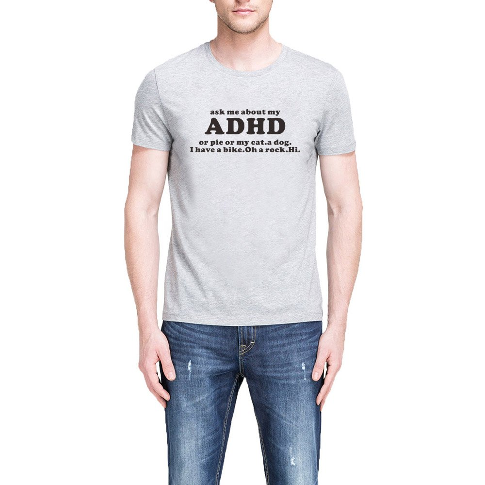 S Ask Me About My Adhd Funny T Shirts Birthday Gift For Dad Tee