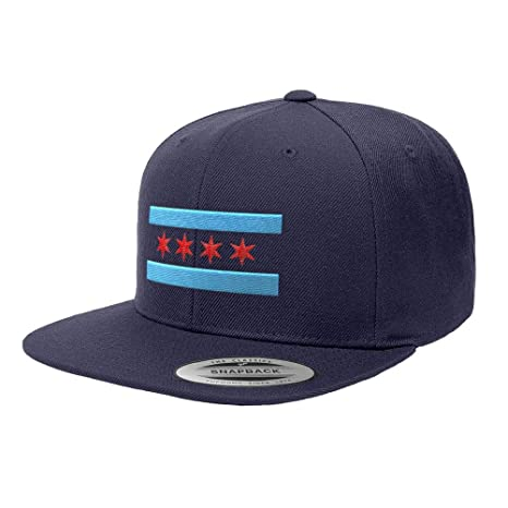 a04e7adcb85 Amazon.com   Chicago Flag Premium Classic Snapback Hat 6089M - Navy Blue    Sports   Outdoors