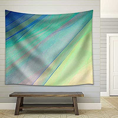 Beautiful Artisanship, That You Will Love, Colorful Tulle on Satin Fabric Background Fabric Wall