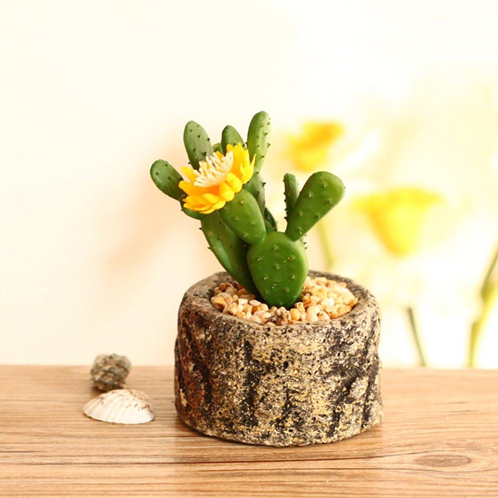 Beito attenuare del Giardino della vaso bonsai include piante Creative simulazione vasi in Ceramica scrivania carnoso, GIGLIO d' acqua Piccola cuenca in Porcellana ROTONDA Aloe
