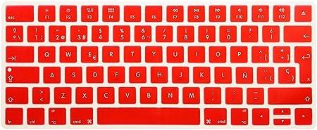 Reina español Idioma teclado Funda Piel de silicona para Apple Magic teclado (mla22ll/A) European/ISO Keyboard layout rosso