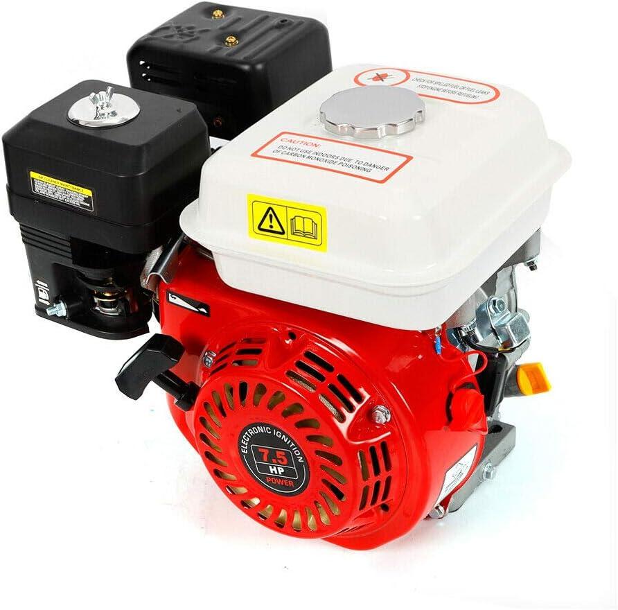 Motor industrial de gasolina, motor de 4 tiempos, motor de kart, motor de gasolina, 7,5 CV, 3600 rpm