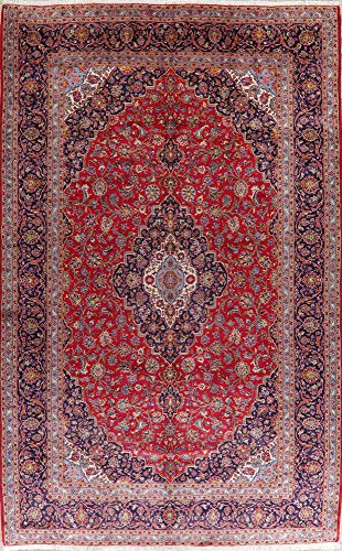 Kashan Persian Oriental Area Rug Wool Hand-Knotted Floral Carpet 10X16 Palace Sized
