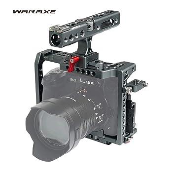 WARAXE GH5 Kit Jaula de cámara integrada de liberación rápida para ...