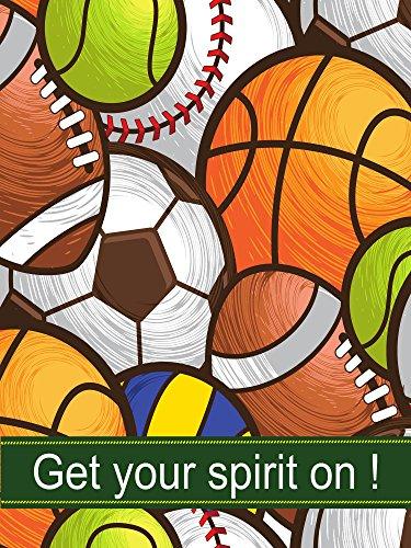 ShineSnow Soccer American Football Garden Flag 12x18, World