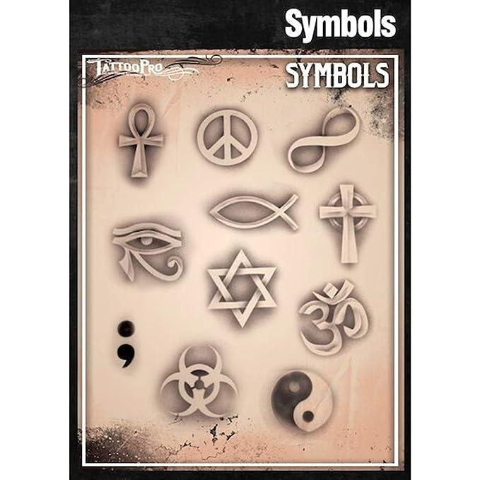 Tatuaje Pro Plantillas Serie 3 - Símbolos: Amazon.es: Hogar