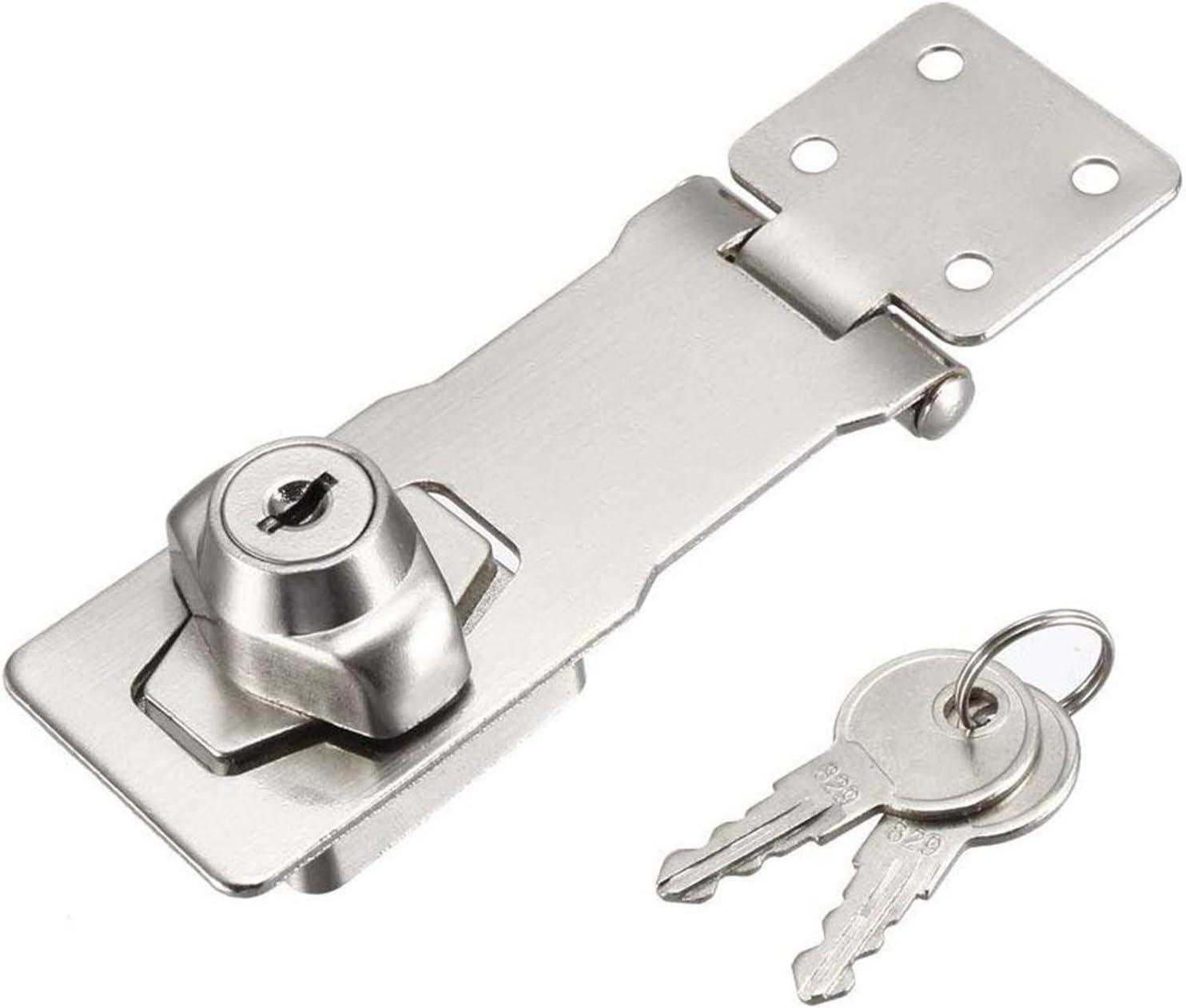 Mittlere Sicherheits-/Überfalle /Überfalle abschlie/ßbar Schublade Schrank Locks Vorh/ängeschloss /Überfalle Lock Cam Lock Tor Riegel Schloss mit Schrauben