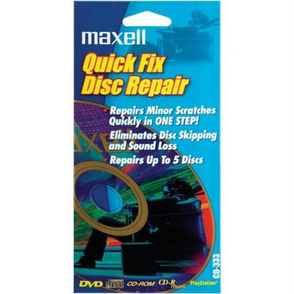 Quick Fix Disc Repair Maxell 190039 Accessory Consumer Accessories Blank Media & Cleaning Cartridges