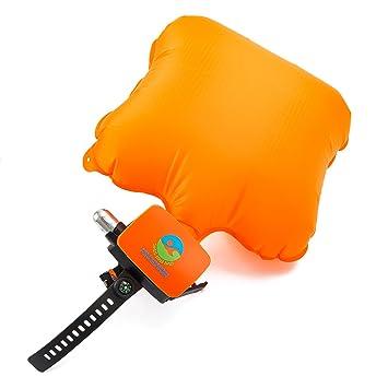 rollgan portátil dispositivo de rescate portátil Bouyancy Booster pulsera hinchable flotador muñequera ligero Agua dispositivo de ayuda para los nadadores ...
