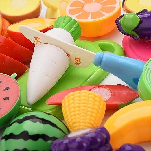 2 LAAT 20 STÜCKE Lebensmittel Spielzeug Schneiden Spaß