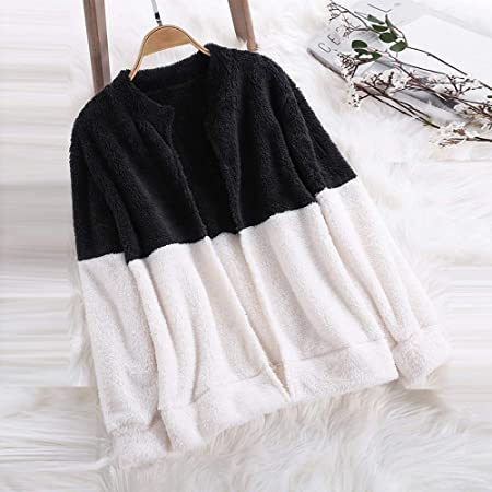 Amazon.com: TIANRUN Womens Fluffy Coat Autumn Winter Plush ...